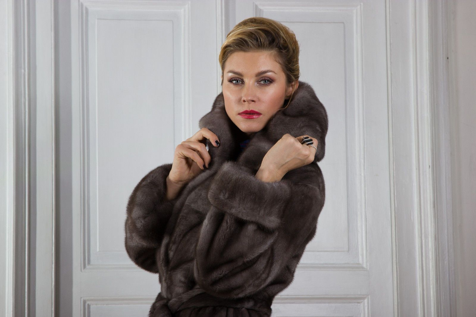 the latest 78775 97527 Pelliccia Visone Lutezia Mink Fur Coat Pelisse Vison ...