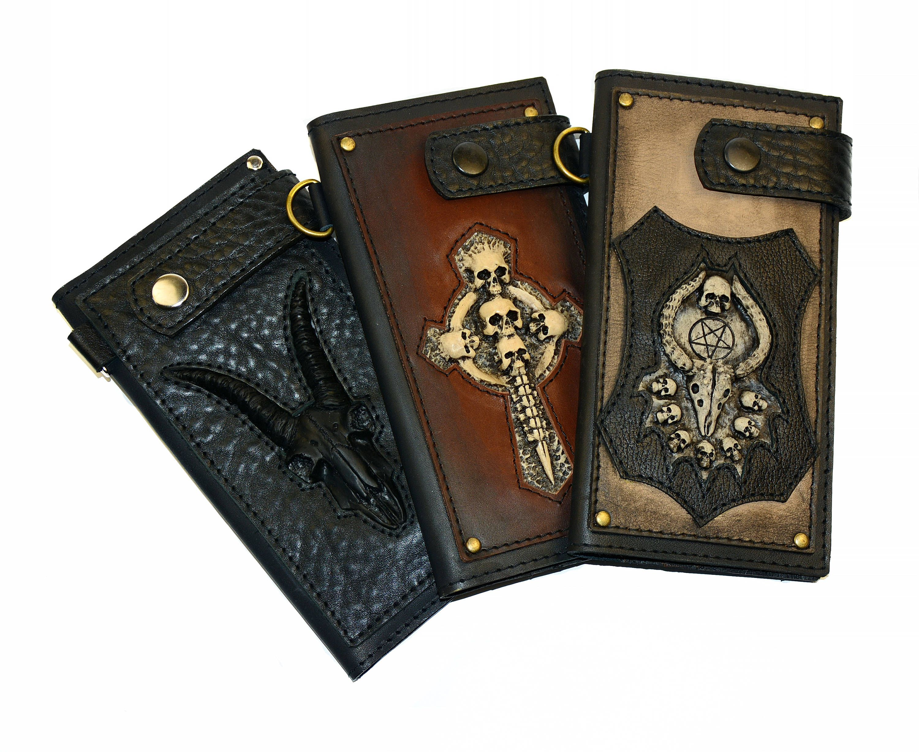 Personalized Halloween Genuine Leather Money Clip