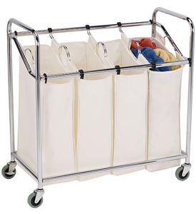 This Heavy Duty Rolling Laundry Sorter Is Great For Sorting And