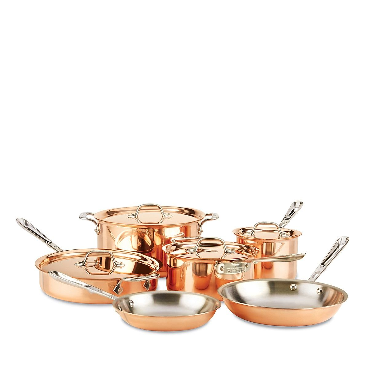 All-Clad c2 COPPER-CLAD 10-Piece Cookware Set - Bloomingdale\'s ...