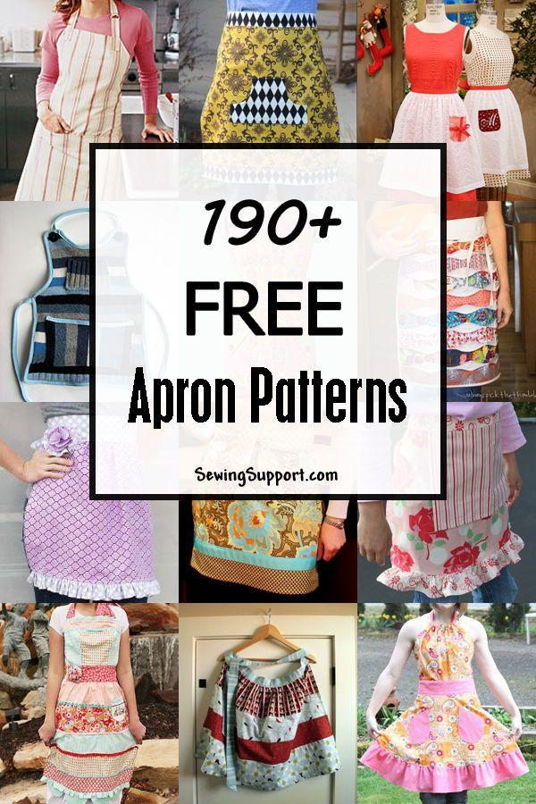 190+ Free Apron Patterns | aprons | Costura, Patrones, Delantales