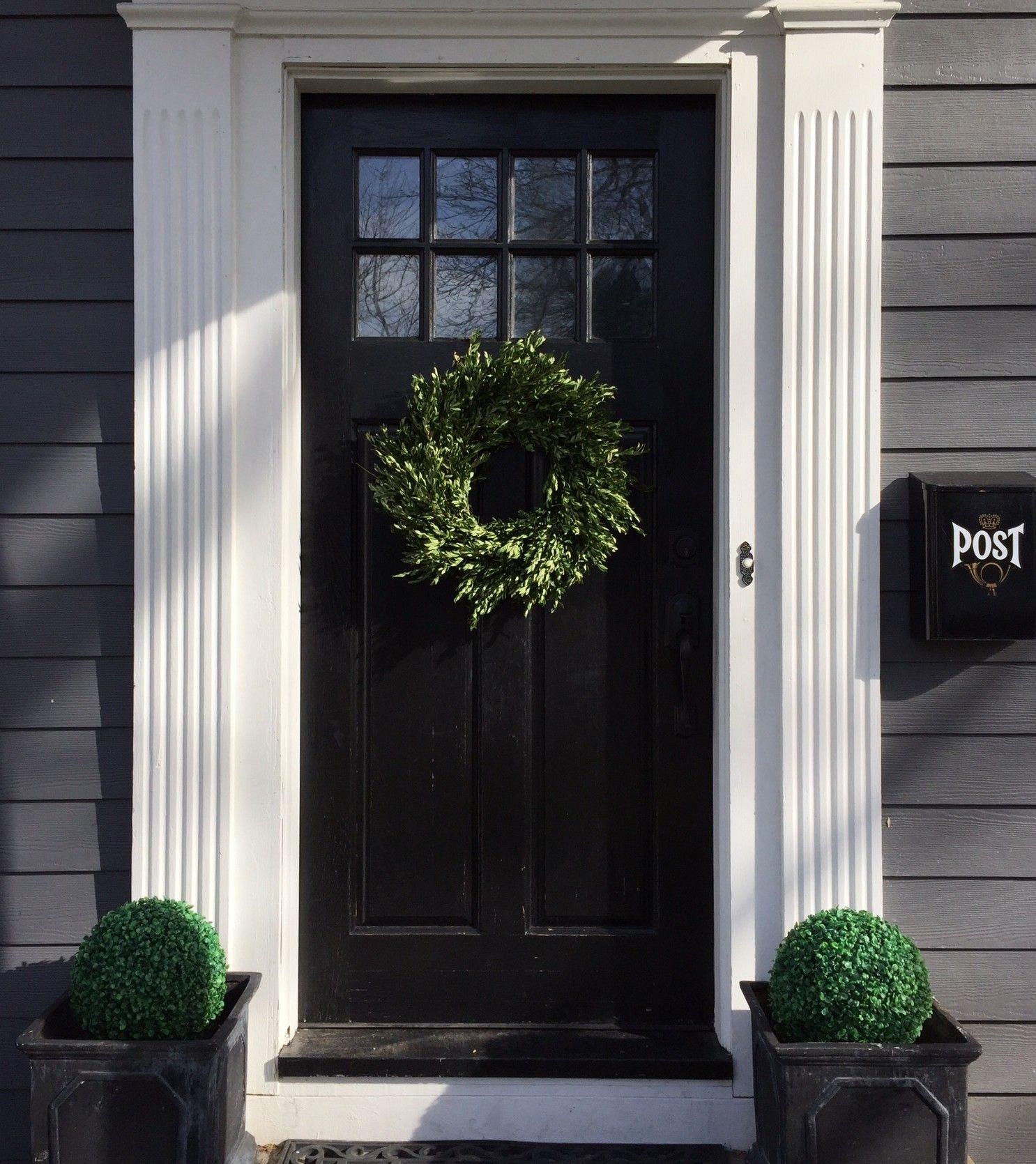 front door with window