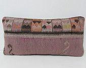 kilim pillow cover Turkish cushion sofa throw pillow decorative pillow case couch outdoor floor bohemian decor boho ethnic rug accent 26913