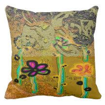 """""""Love in Summer"""" Design by Carole Tomlinson©2016 Throw Pillow"""