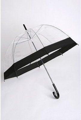 Clear Bubble Umbrella - Black