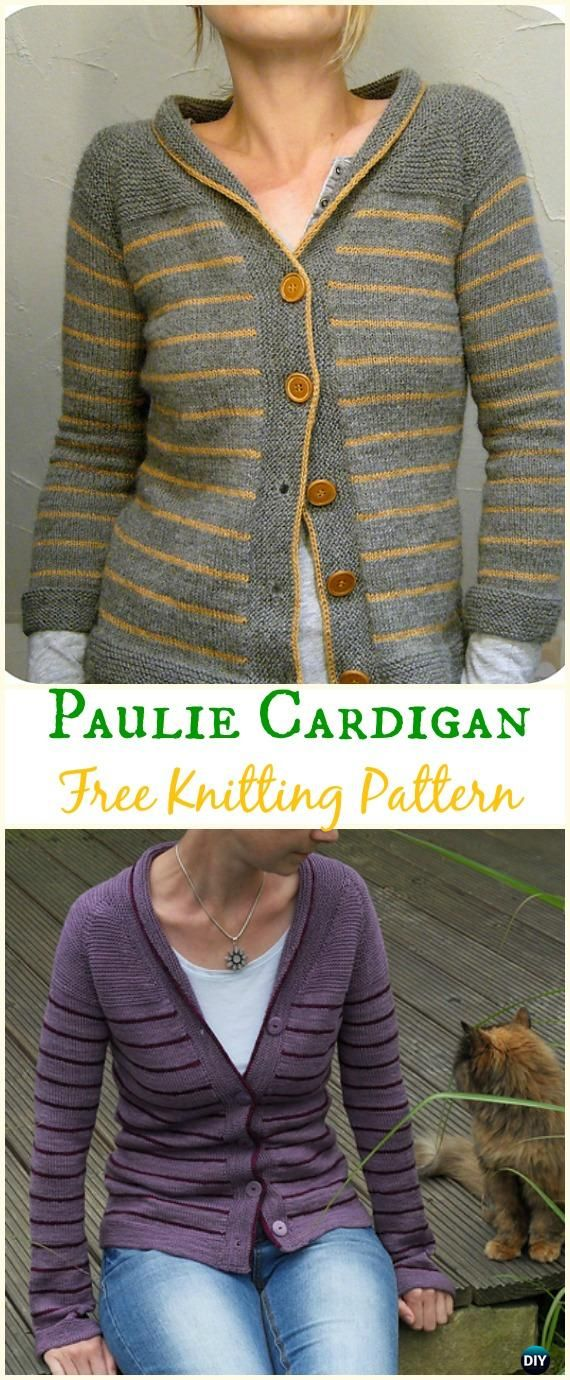 Women\'s Paulie Cardigan Sweater Free Knitting Pattern - Knit Women ...