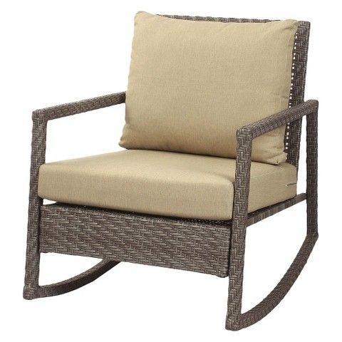 Wicker Patio Rocker | Dream patio, Outdoor chairs, Wicker