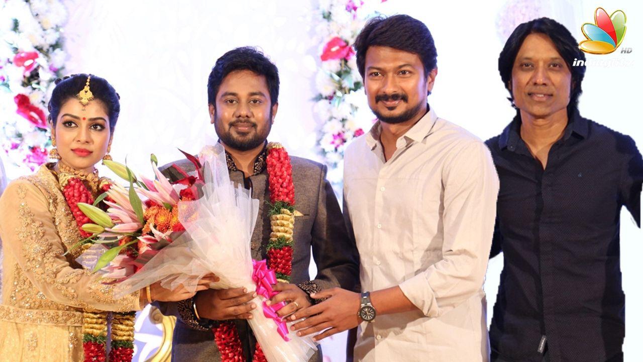 Sj Surya Udhayanidhi Stalin At Pichaikkaran Actress Satna Us Wedding Receptionsatna Who Made Her