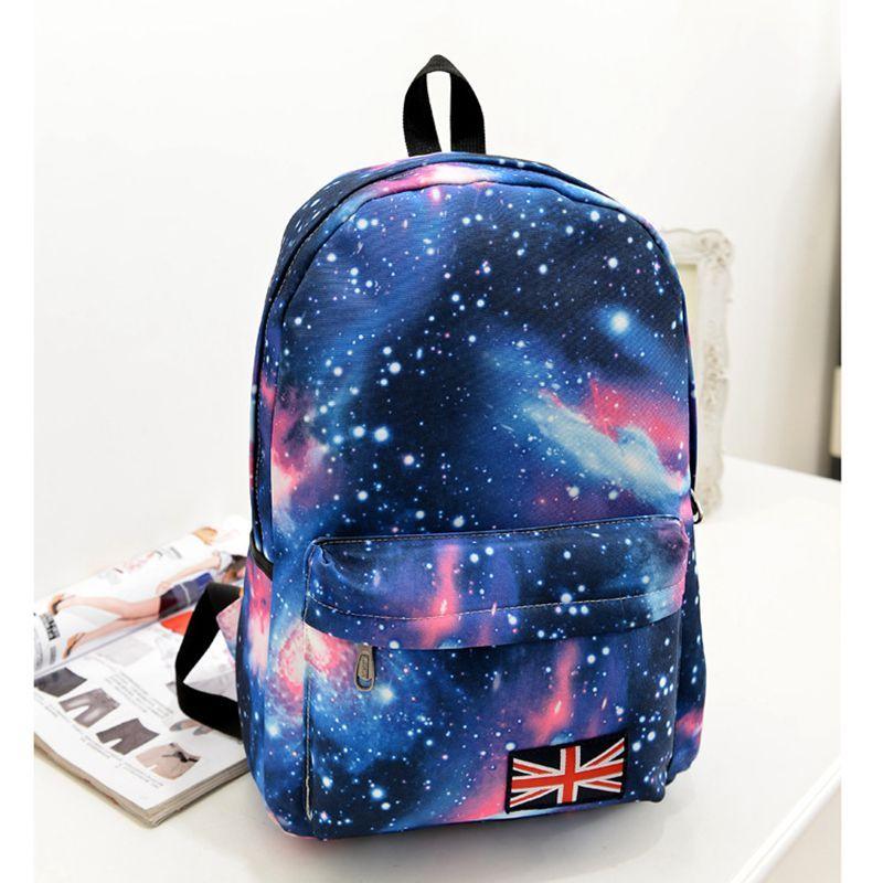 Galaxy impressão Mochila de lona Mochila Feminina para meninas adolescentes  sacos de escola para meninas juventude espaço Mochila O1099 699f685297