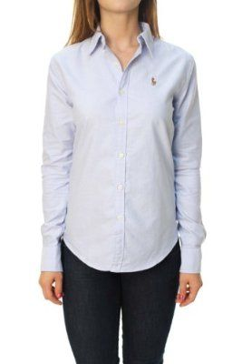 Polo ralph lauren women 39 s slim fit long sleeve button down for Womens button down shirts fitted
