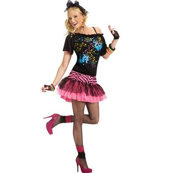 Halloween 80s gal can easily do it yourself with your wardrobe diy halloween solutioingenieria Images