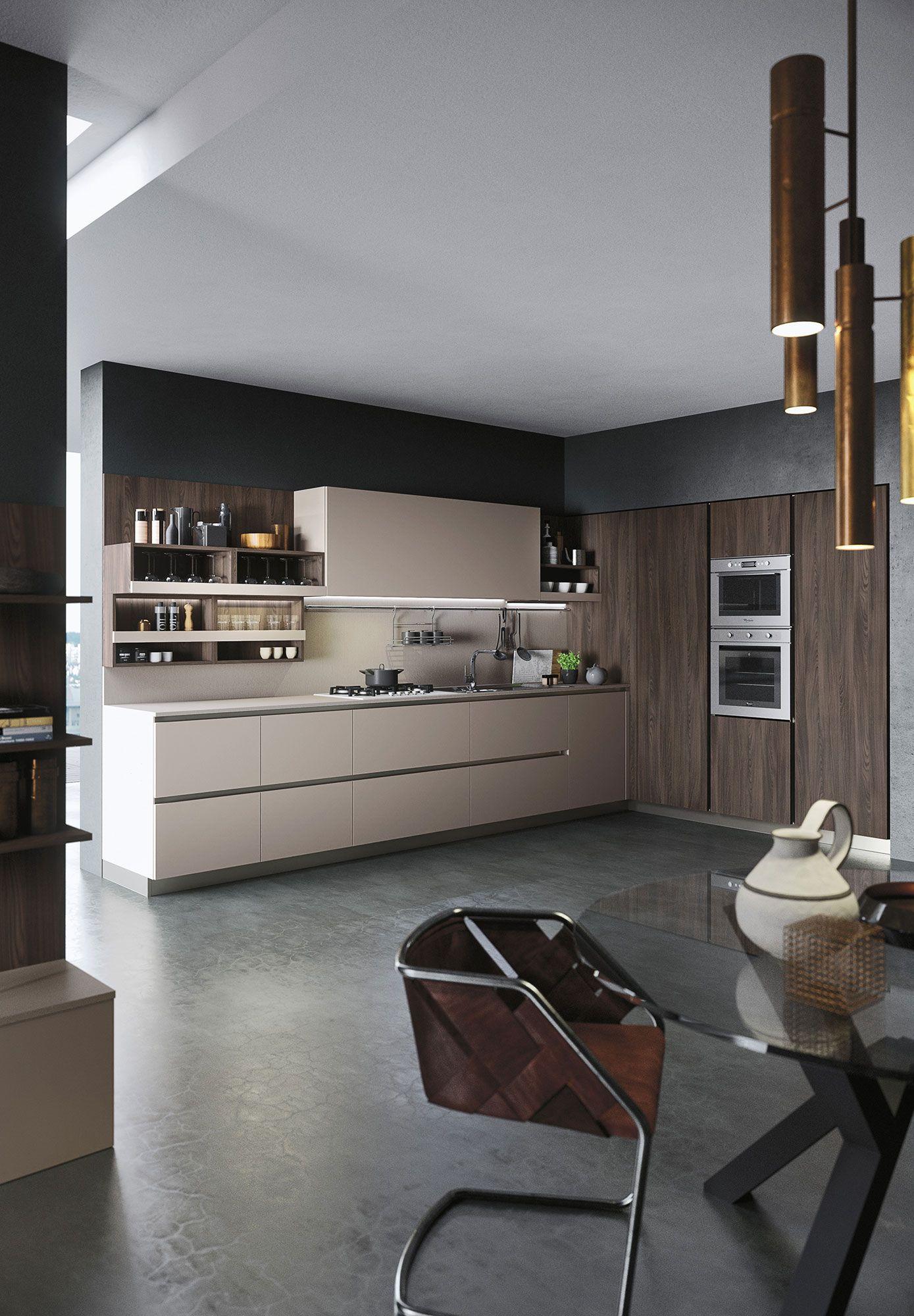 Modern kitchen first kitchen lab pinterest grey laminate kitchens and kitchen cabinet doors - Cuisine noblessa ...