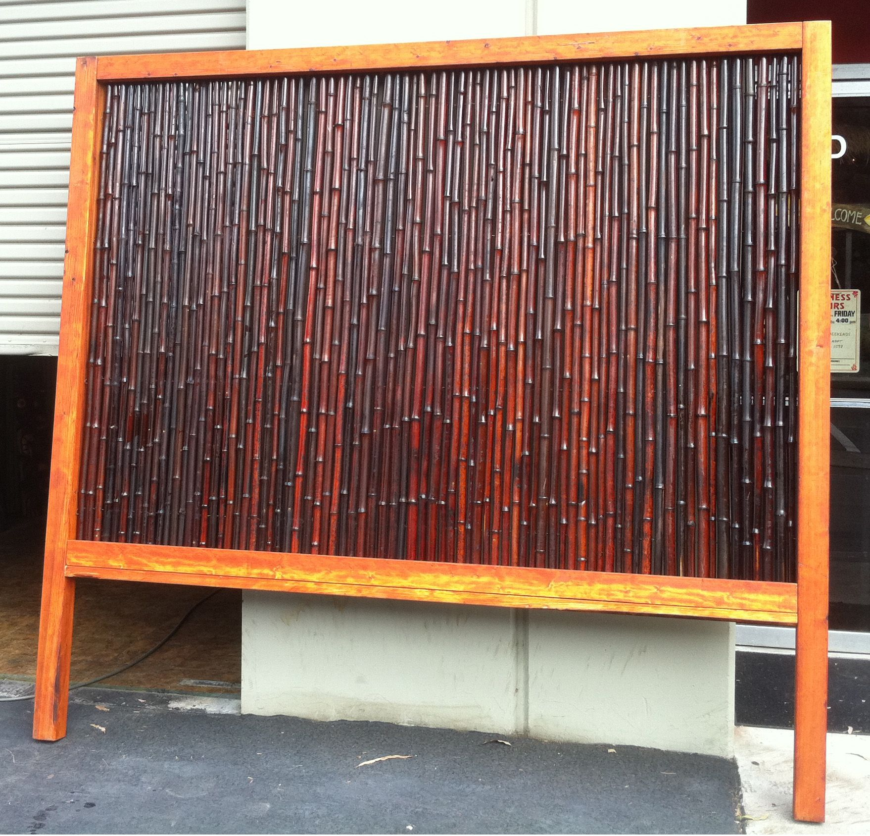 #Bamboo Fence Panels Are Easy To Install And Can Be Used
