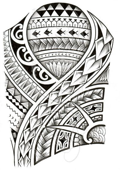 Polynesian Tribal Tattoo Designs