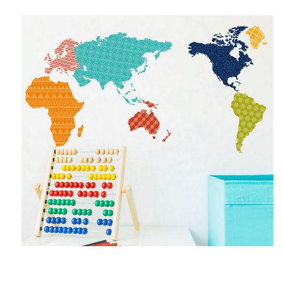 Our customers are having so much fun with this giant world map children wall decal large world map nursery wall decal baby nursery wall decal large world map decal nursery wall map sciox Gallery