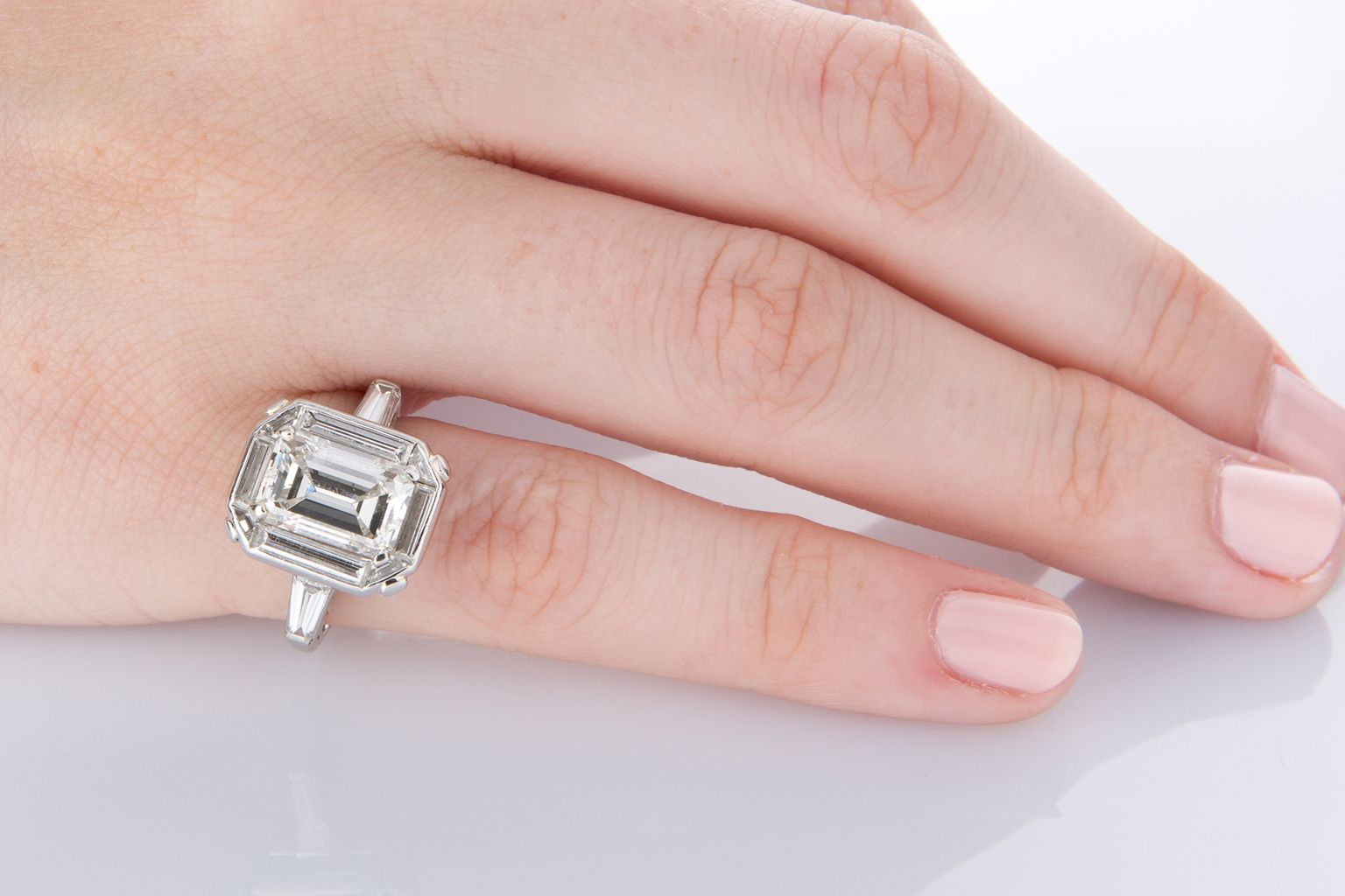 Emerald Cut Diamond Ring - set with a magnificent GIA Certified 2.90 ...