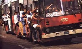 overcrowded busses... still is the everyday way of transportation in Cuba