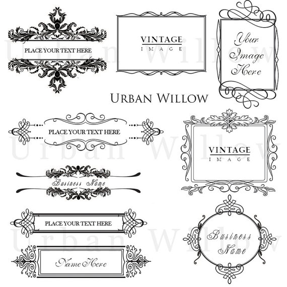 ORNAMENTAL VINTAGE FRAMES Pack 7 Digital vintage by
