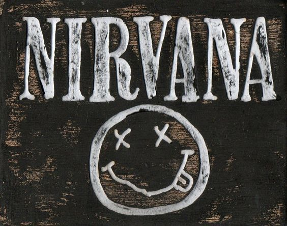 Nirvana art, wood sign, Grunge band artwork, alternative metal ...