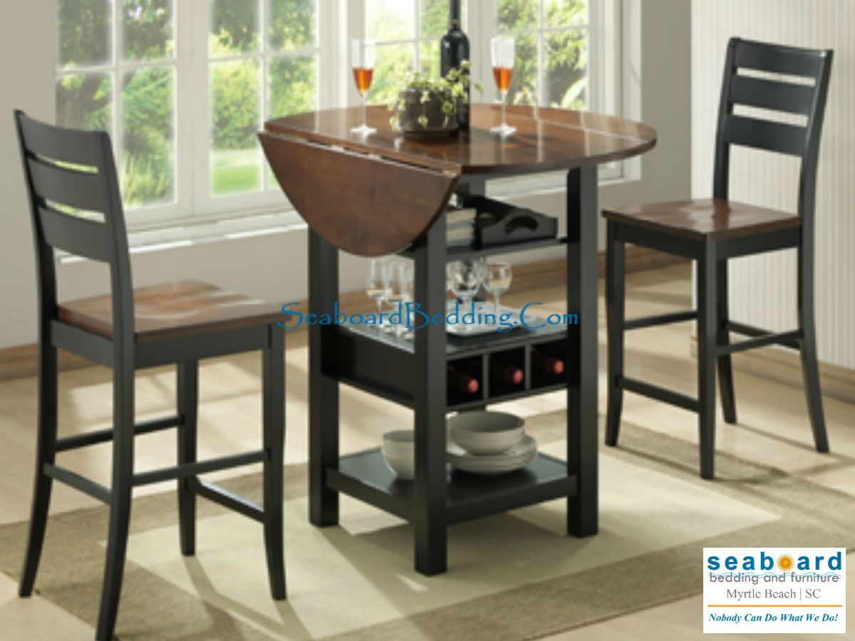 Dining Room Table With Drop Down Sides Amusing Bring Style And Function To Your Casual Bar Or Dining Area With Design Ideas