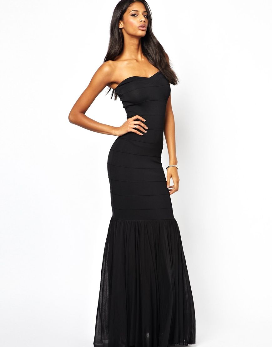 cb6ea127 Lipsy VIP | Lipsy VIP Bandage Fishtail Maxi Dress at ASOS | Wish ...
