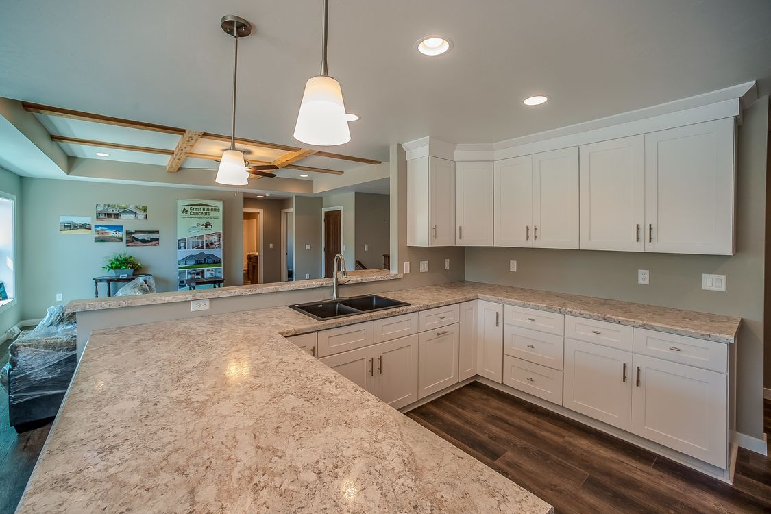 """You can get """"rustic"""" without going all-in. Dickinson White Shaker Cabinets from www ..."""