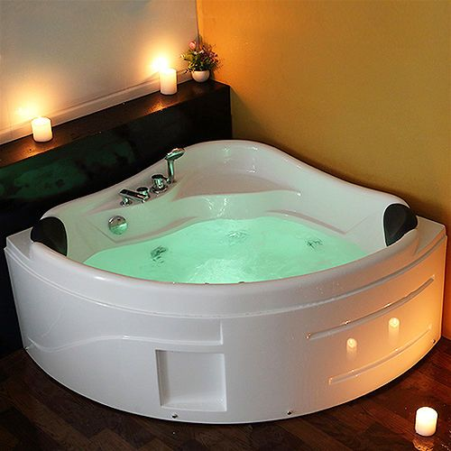 Modern 1750mm Whirlpool Shower Spa Jacuzzis Massage Corner 2 Person Double  Bathtub :6181M. 1700