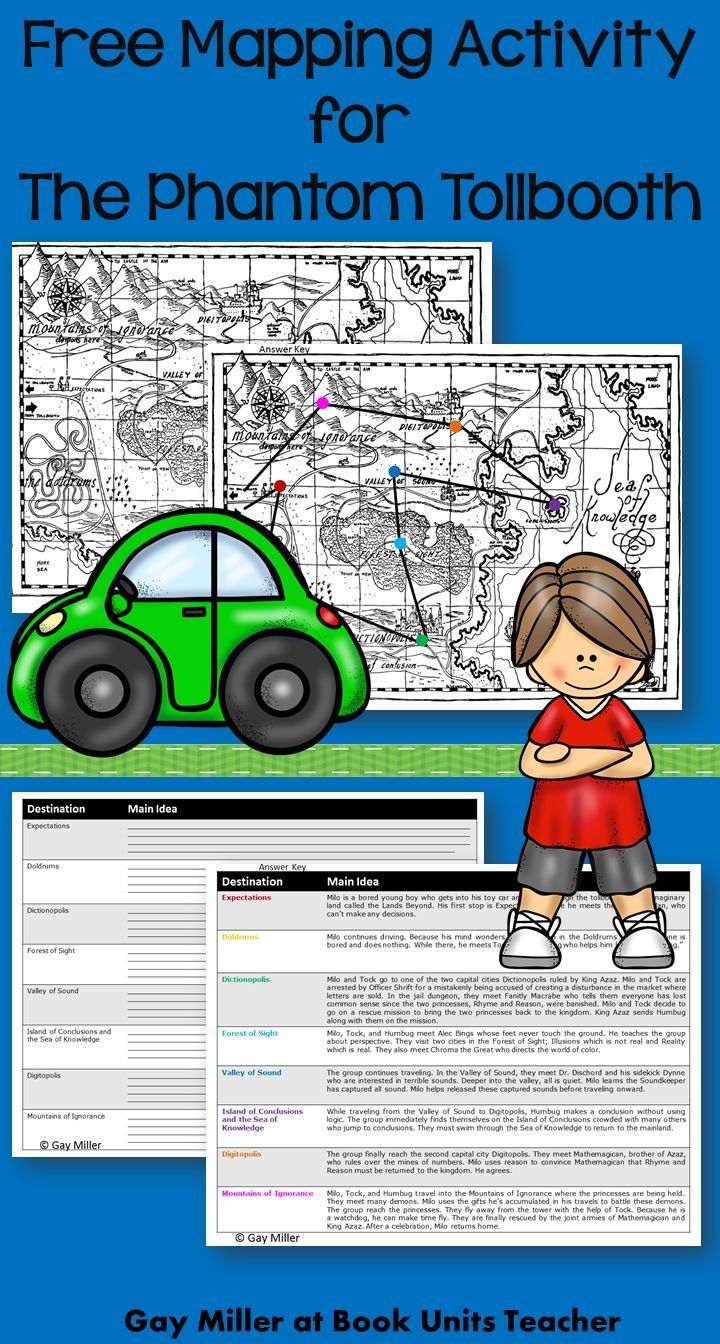 Free Mapping Activity For The Phantom Tollbooth