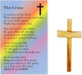 New wooden pocket cross token with free the cross for Cross in my pocket craft