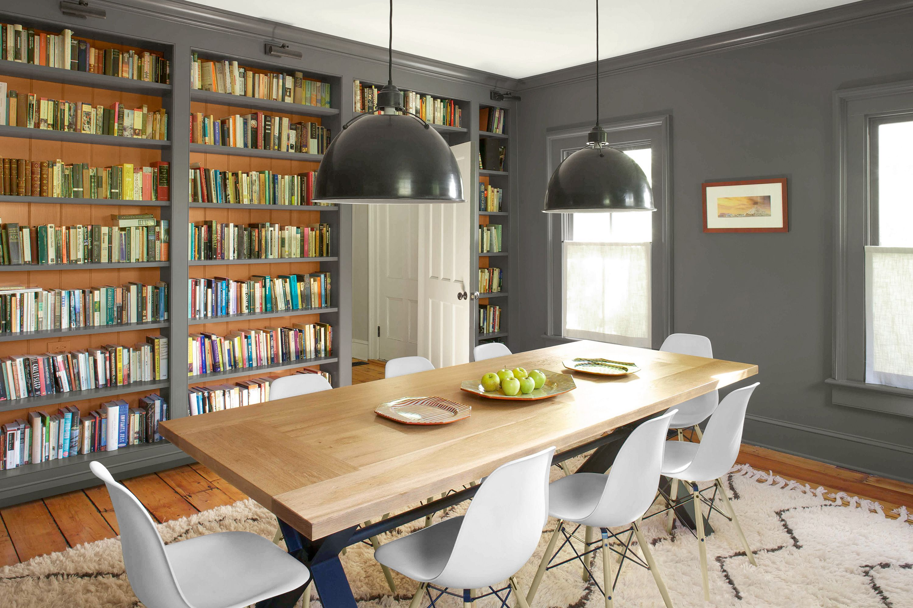 Dining Rooms Make Ideal Libraries Because They Often Have Expansive Walls That Can Be Transformed Into B Dining Room Combo Dining Room Library Farmhouse Dining Dining room librariesbeautiful and