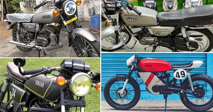 Modified Yamaha Rx 100 Top 10 Bikes In India Details And Photos Yamaha Motorcycles In India