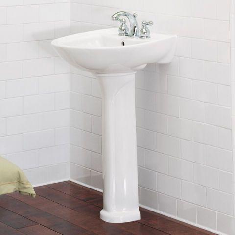 Powder Room   American Standard   Cadet 24 Inch Pedestal Sink