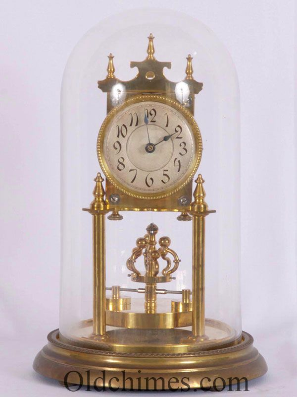 This Is Called A 400 Day Or Anniversary Clock It Runs For A Year On One Winding It Was Made By Wilhelm Wurth Co A Cloc Anniversary Clock Clock Mantel Clock
