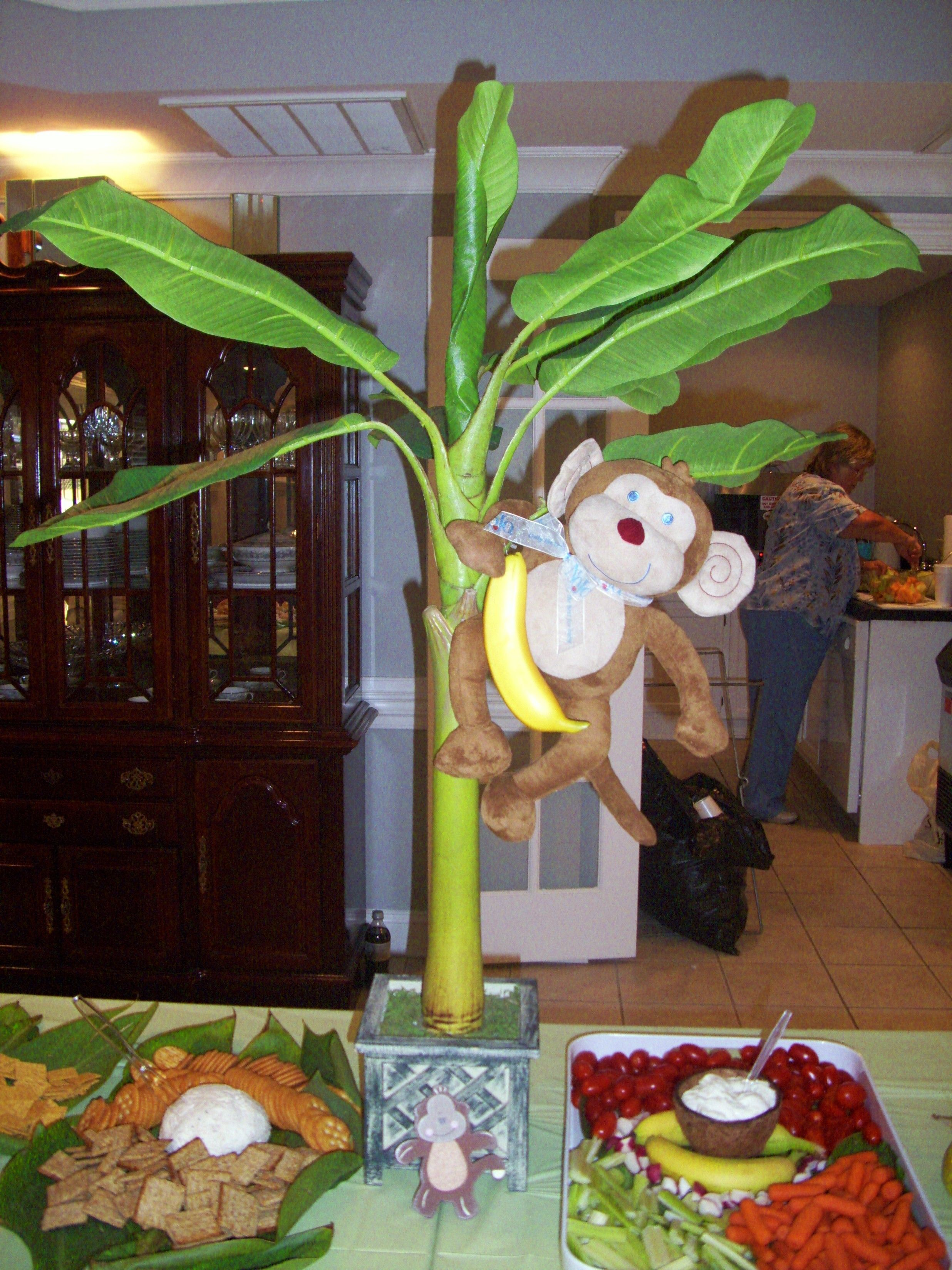 Monkey Theme Baby Shower Our Table Center Piece Party Time