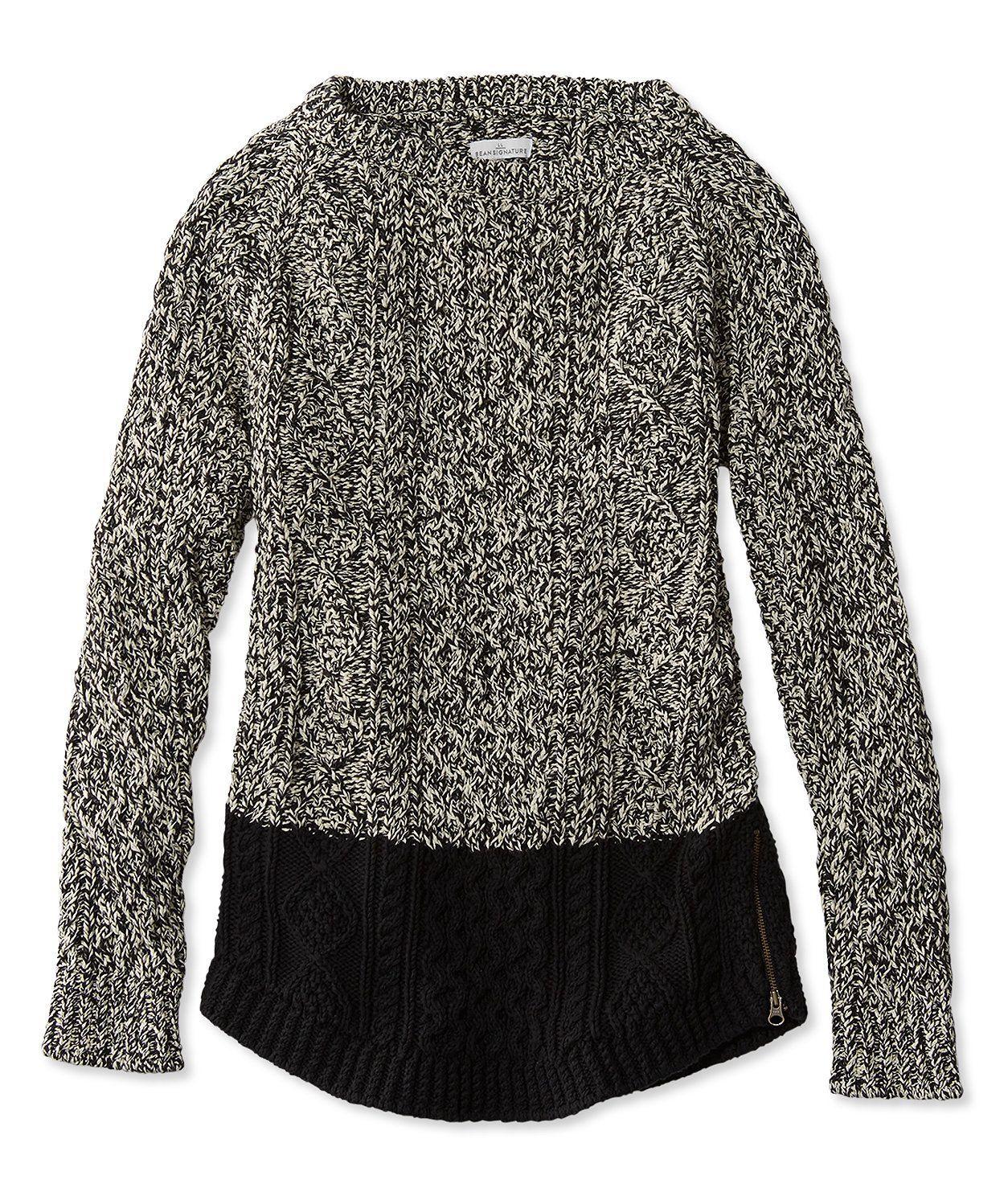 Signature Cotton Fisherman Tunic Sweater | Tunic sweater, Tunics ...