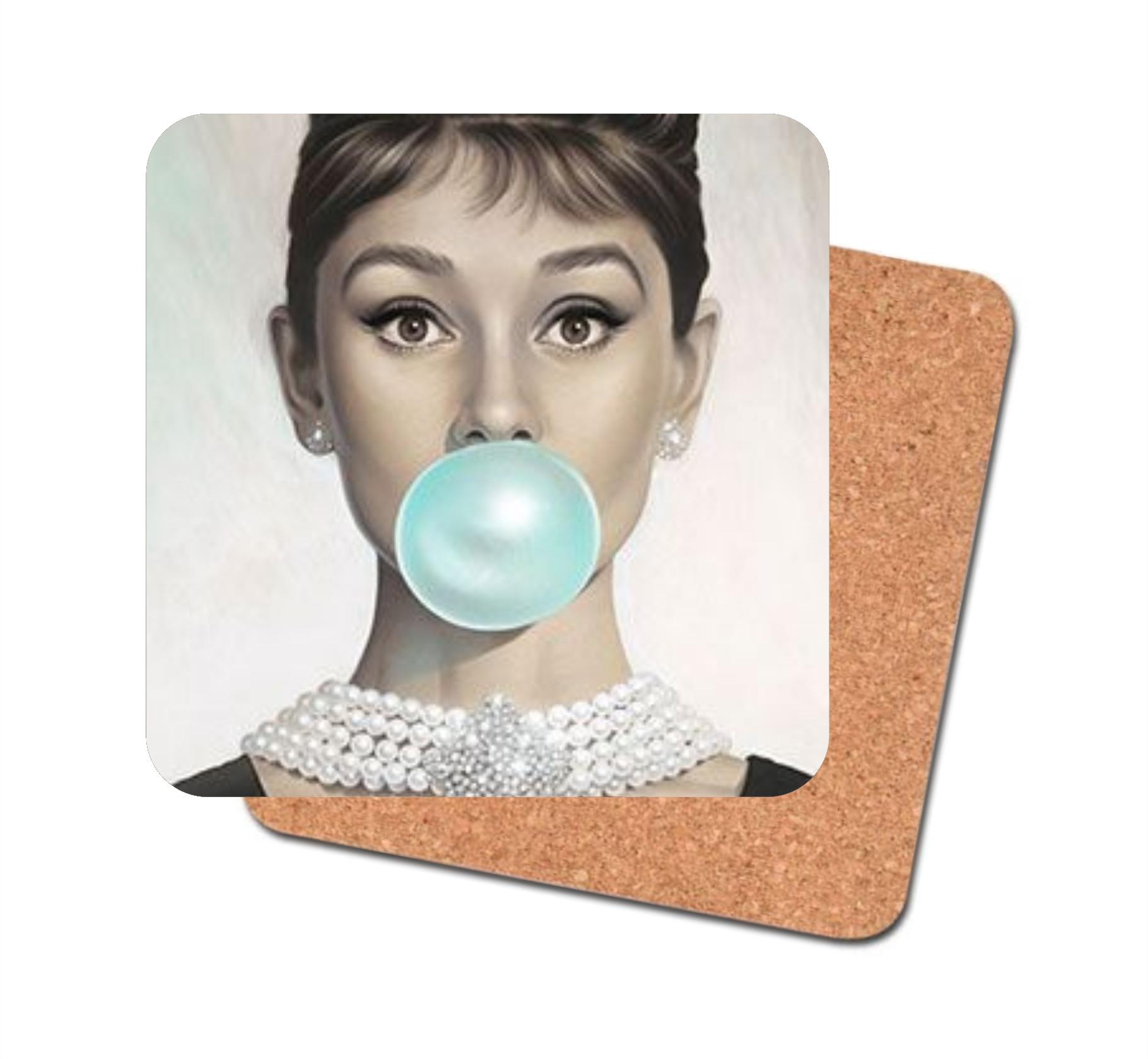 Audrey Hepburn Coaster Audrey hepburn, Audrey hepburn
