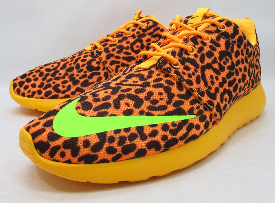 New Arrivals Nike Roshe Run Pattern Ladies Leopard Shoes buy