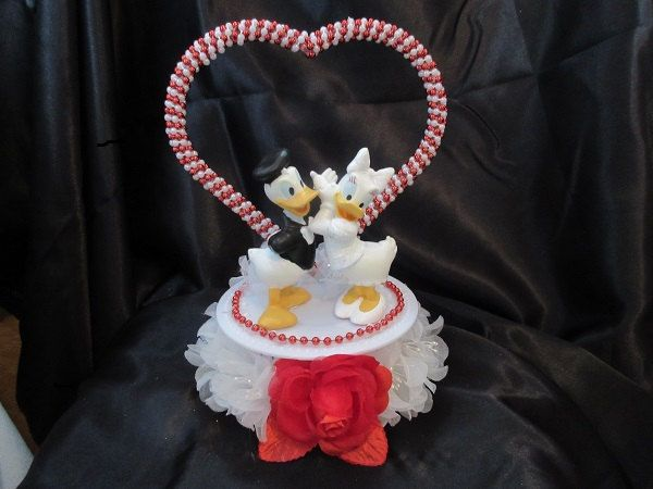 Disney Donald And Daisy Duck Wedding Cake Topper In 2019 Ideen