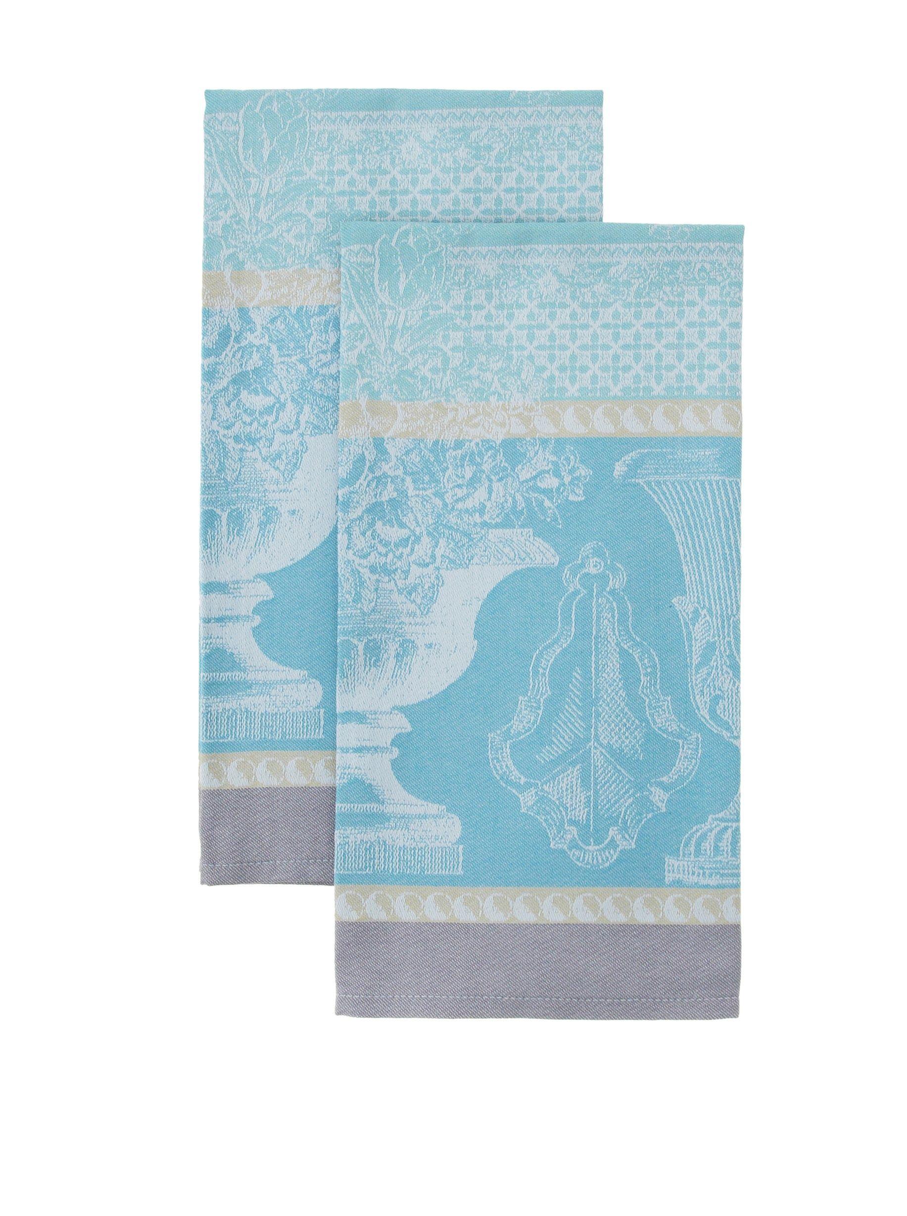 Garnier Thiebaut Set of 2 Vase De Jardin Aqua Kitchen Towels ...