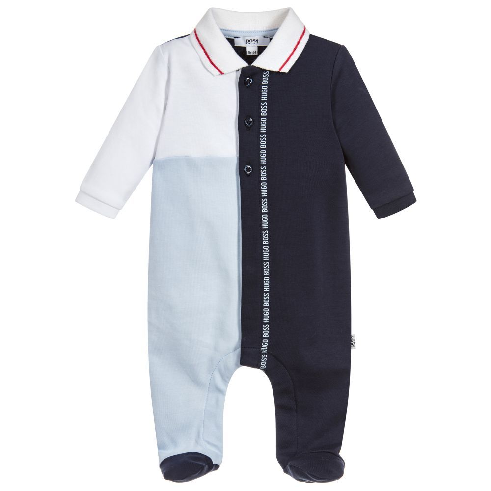 ffa749399 Boys Blue Cotton Babygrow | BODY SUITS | Girls rompers, Boy outfits ...