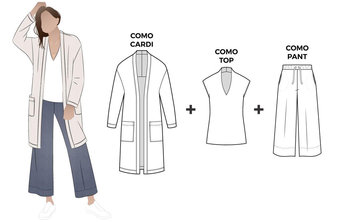 4d12ef89cb9f Como Outfit Bundle Sewing Pattern Bundle By Style Arc