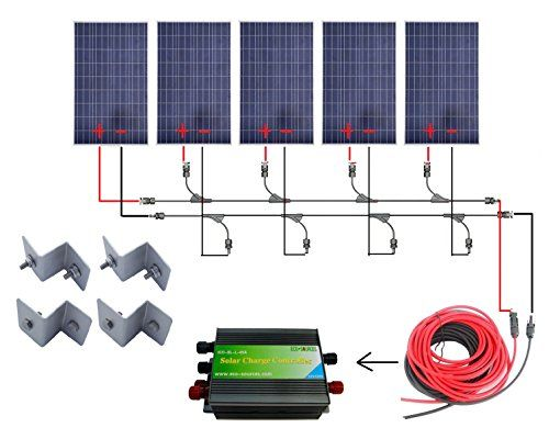 ECO-WORTHY 500 Watts Complete Solar Kit Off-Grid: 5pcs 10... https://www.amazon.com/dp/B00FF1KG8U/ref=cm_sw_r_pi_dp_x_XsoPxbVT28TXV