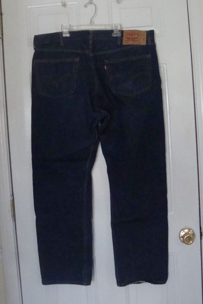 Mens Levi 501 Jeans 42 x 34 Red Tag Straight Leg Button ...