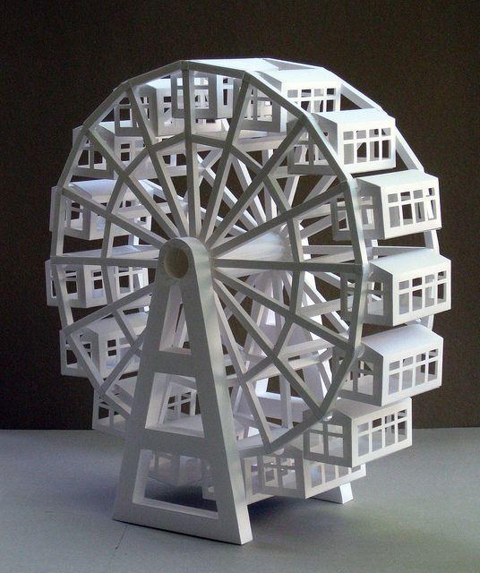 Ferris Wheel Paper Toys Diy Pop Up Cards Diy Pop Up Book