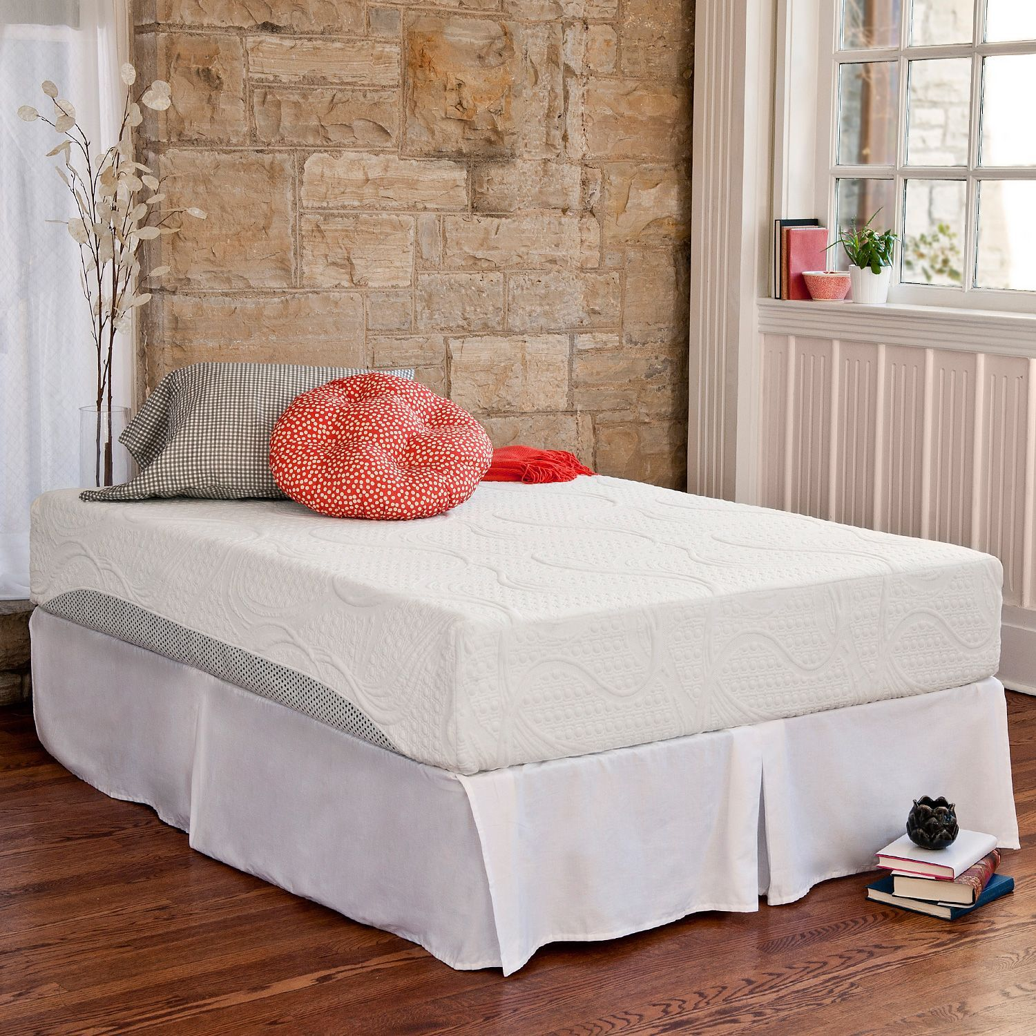 10 Night Therapy Pressure Relief Memory Foam Mattress Bed Frame Set Full Sam S Club Great Reviews