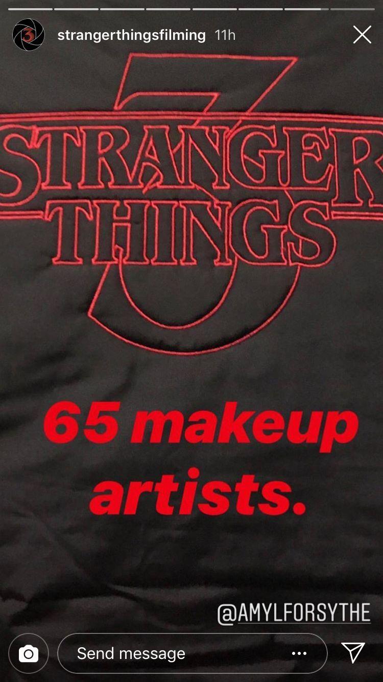 65 makeup artists for S3 Cast stranger things, Stranger