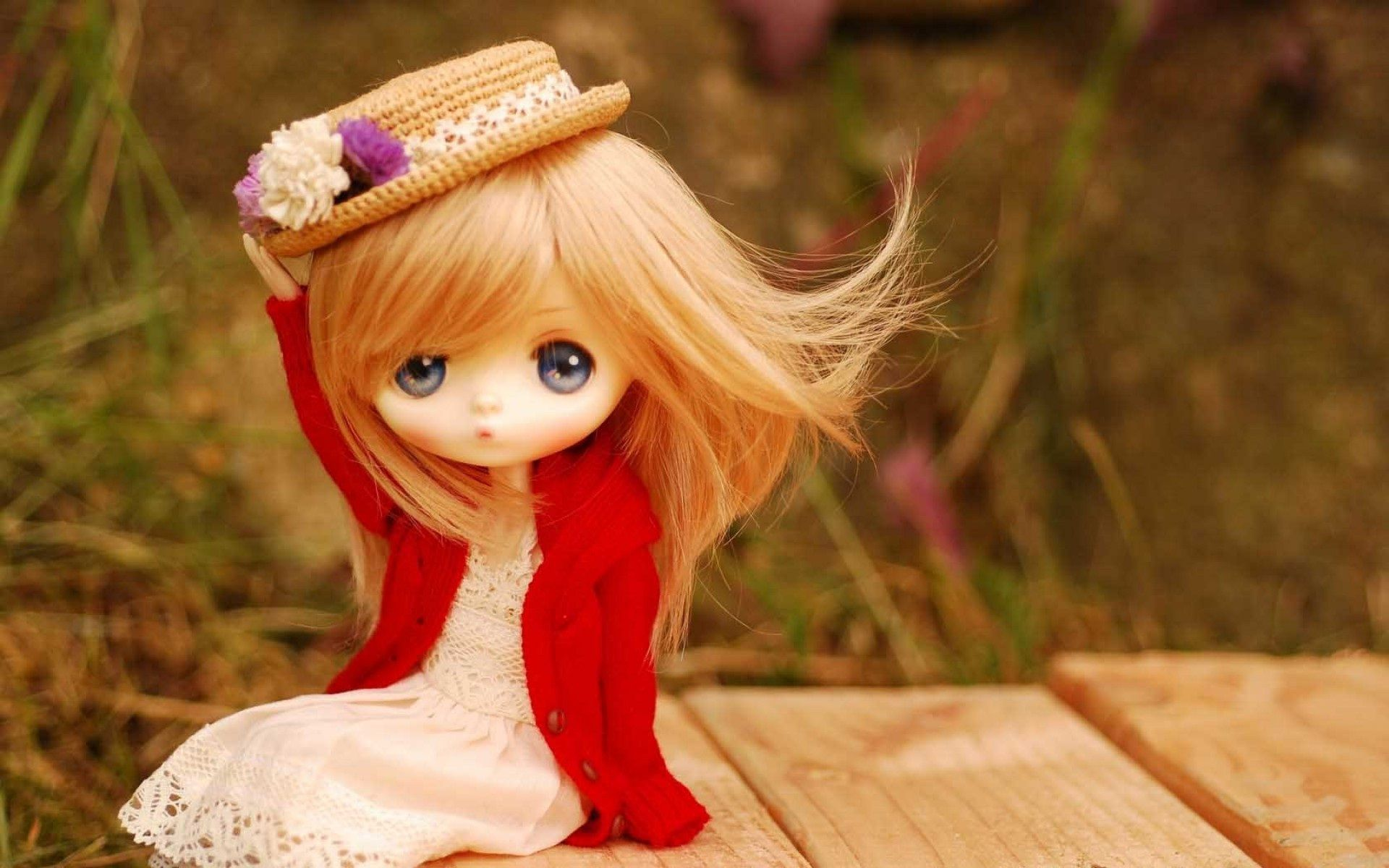 HD Animated Cute Hat Doll Red Sweater Wallpapers   Anime - Model    Pinterest   Dolls, Wallpaper free download and Wallpaper