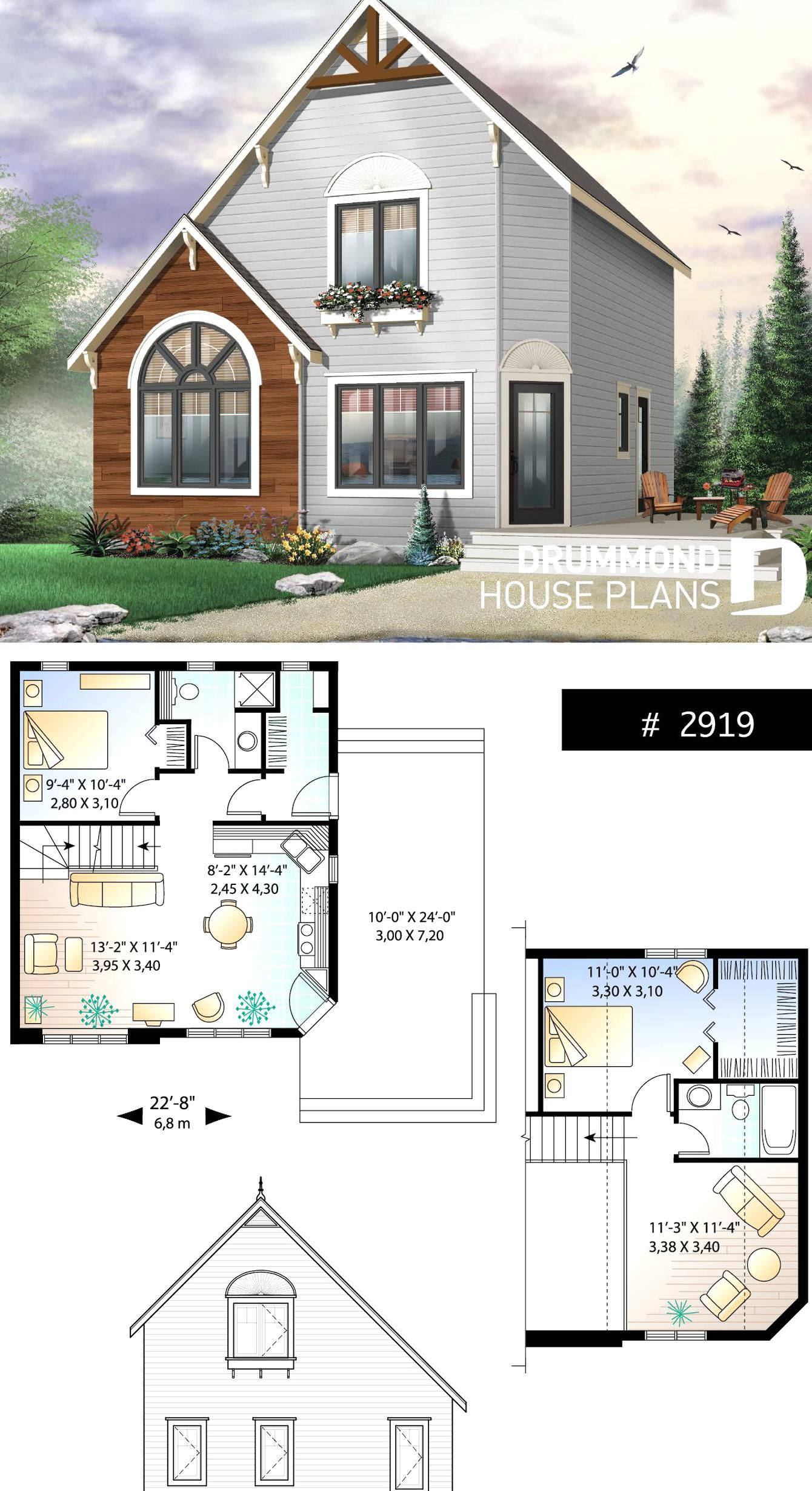 2 To 3 Bedroom Affordable Home Plan Transitional Home Design With Mezzanine And Open Floor Plan In 2020 Sims House Plans House Plans Cottage House Plans