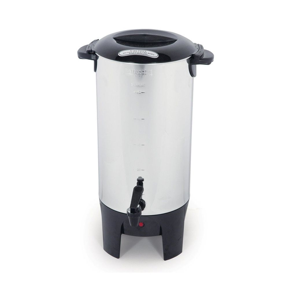 Silver 10 50 Cup Electric Coffee Maker Urn Brewer