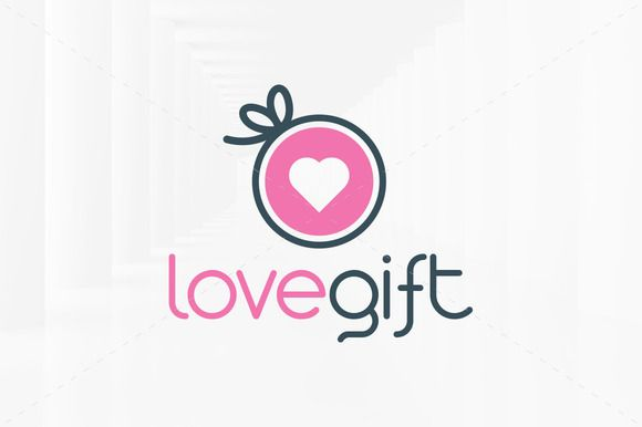 Love Gift Logo Template Fachadas De Tiendas Tienda De Globos